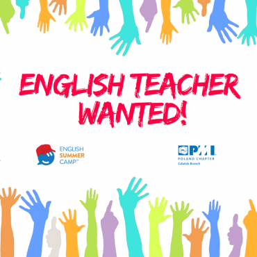 English teacher wanted!