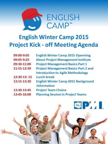 English Winter Camp 2015 Project Kick Off!