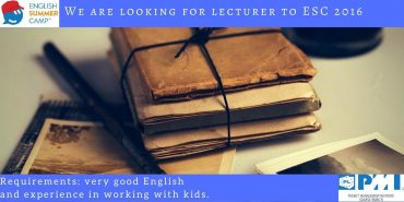We are looking for a lecturer to ESC 2016! Maybe you? :)